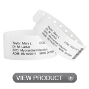 Label Shield Wristbands
